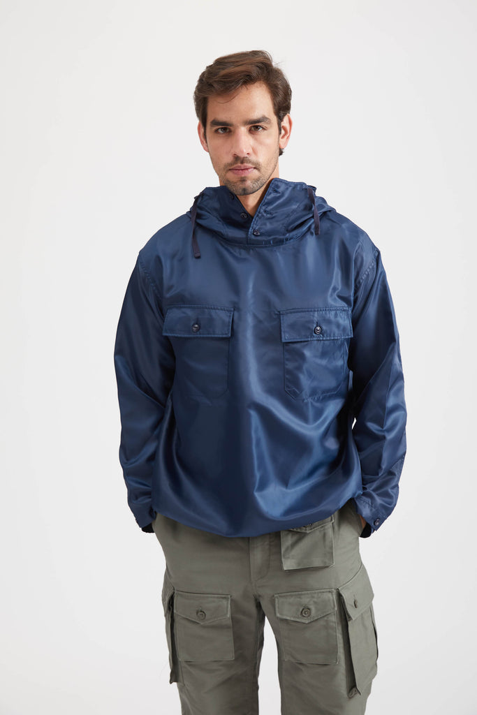 CAGOULE SHIRT POLYESTER PILOT TWILL - NAVY