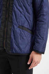Reversible Jacket Cotton Wool - Navy