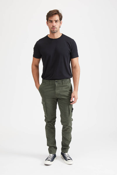 318L1 Broken Twill Cotone Stretch Pants - Musk