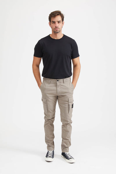 318L1 BROKEN TWILL COTONE STRETCH PANTS - MUD