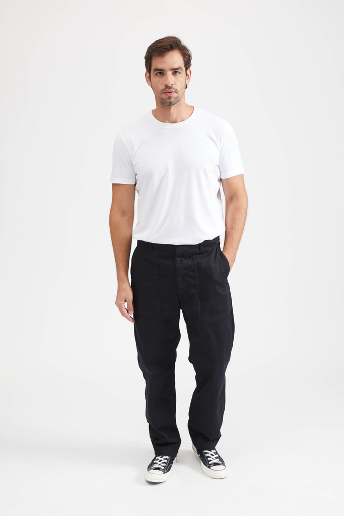 Fatigue Pant Cotton Herringbone Twill - Black