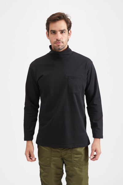 MOCK TURTLE SOLID PC JERSEY - BLACK