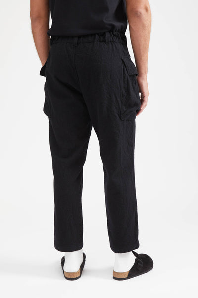 9/10 Length Military Trousers Wool - Black