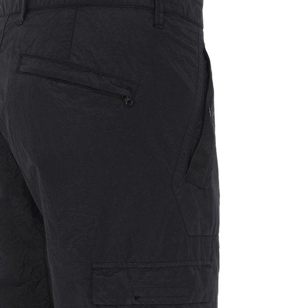 32029 SI PA/PL SEERSUCKER-TC GARMENT DYED PANTS - BLACK