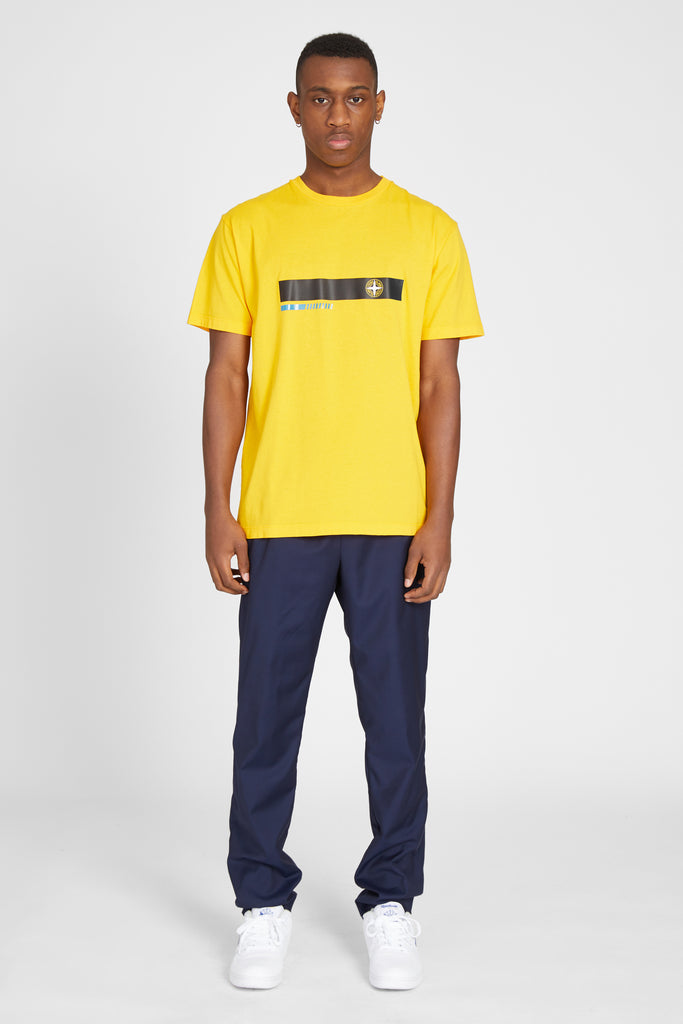 2NS82 LOGO STRIPE TSHIRT - YELLOW