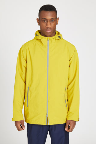 PLASTER HOODED OVERSIZED RAINCOAT - YELLOW