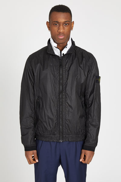43411 LUCID GARMENT DYE JERSEY LINED JACKET - BLACK