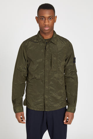 10844 NYLON METAL OVERSHIRT - MILITARY GREEN