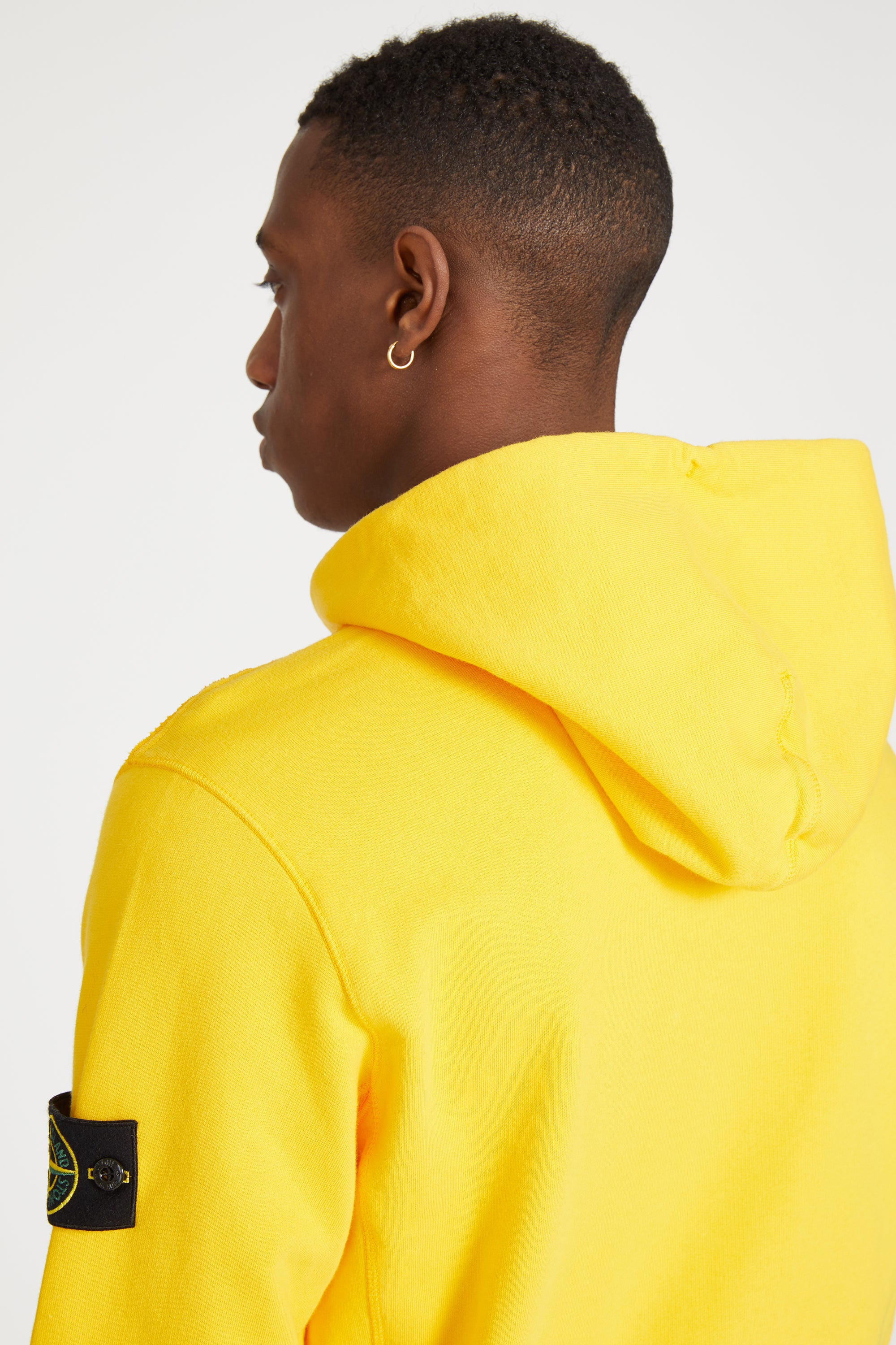 62840 COTTON FLEECE PULLOVER POCKET HOODY - YELLOW
