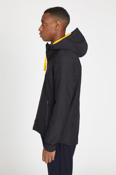 LAMINAR 2 PLY GORETEX SHELL HOODED JACKET - BLACK