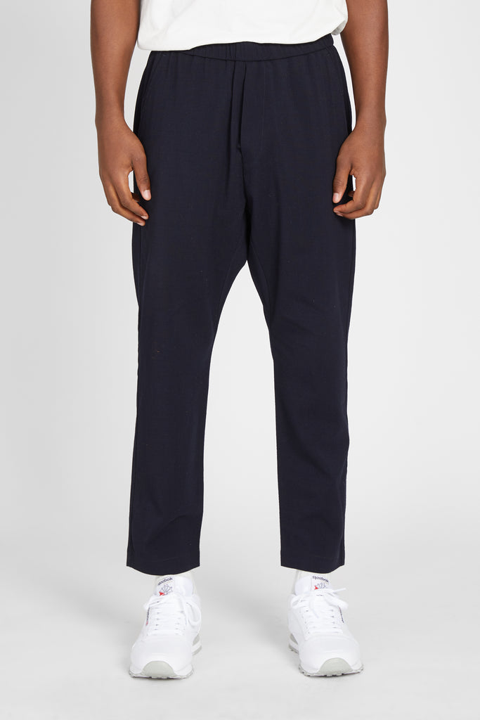ARENGA GRISA STRETCH COTTON TROUSER - NAVY