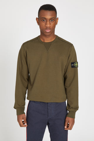 62740 COTTON FLEECE SWEATSHIRT - MILITARY GREEN