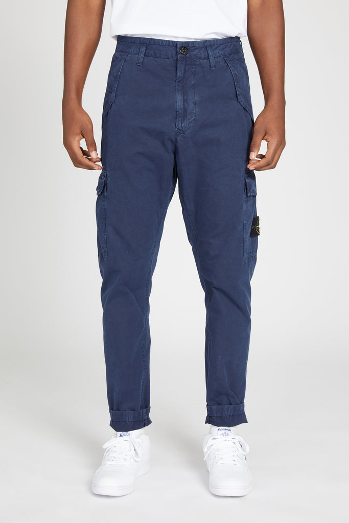 314WA BRUSHED CANVAS MILITARY CARGO PANTS - BLUE