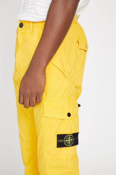 314WA BRUSHED CANVAS MILITARY CARGO PANTS - YELLOW