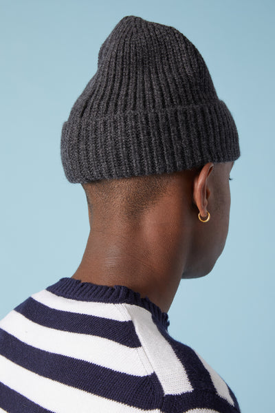 N10B5 GEELONG WOOL CAP - CHARCOAL