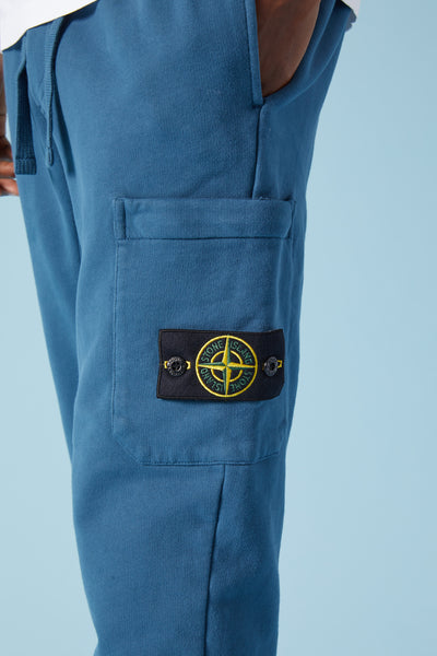 60320 BRUSHED COTTON FLEECE SWEATPANTS - DARK BLUE