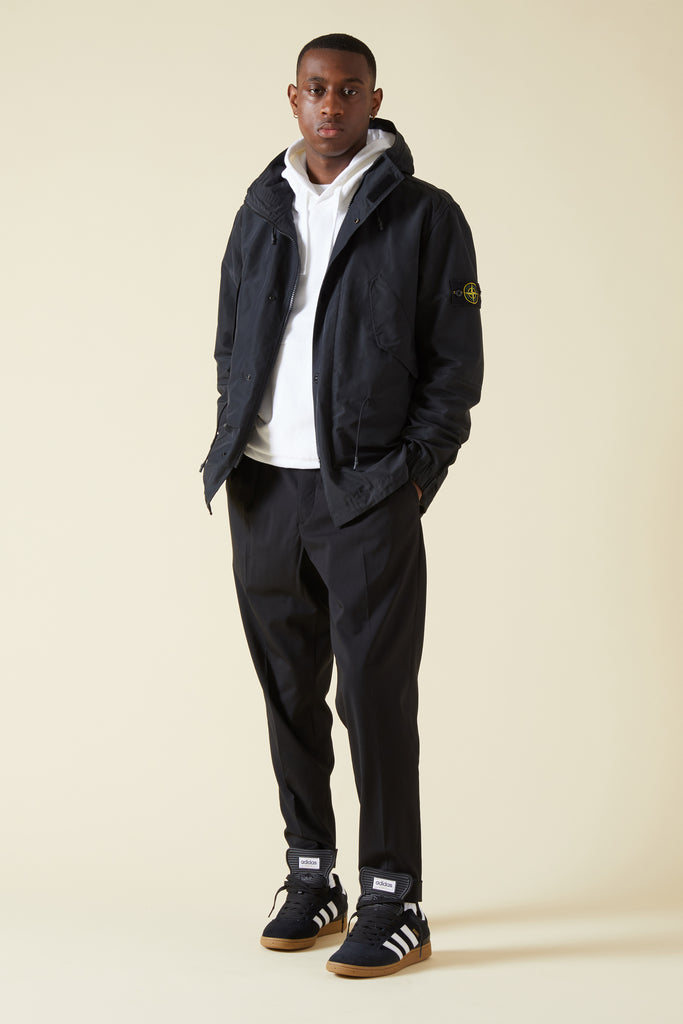 41322 MICRO REPS HOODED JACKET - BLACK