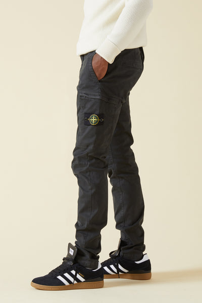 321LN STRETCH BROKEN TWILL CARGO PANTS - CHARCOAL