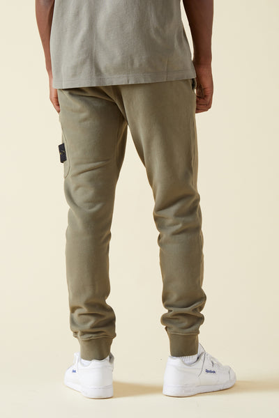 60320 BRUSHED COTTON FLEECE SWEATPANTS - OLIVE
