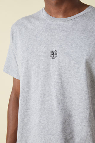 2NS85 ISTITUTIONAL PRINT GARMENT DYED TSHIRT - HEATHER GREY