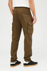 326F4 Raso Cotone Lana Stretch Ghost Pants - Military Green
