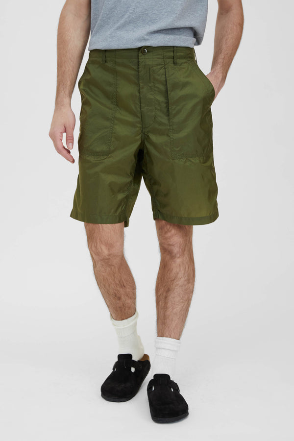 Fatigue Shorts - Olive Nylon Micro Ripstop