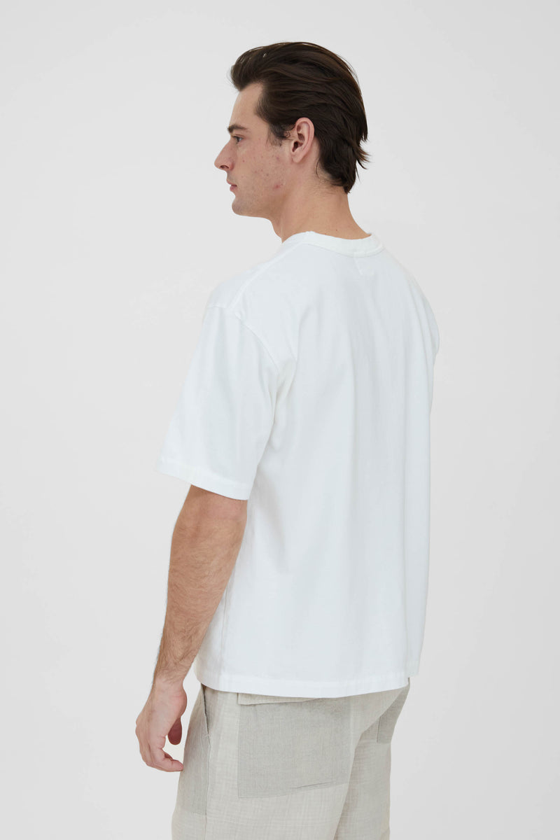 Crew Neck Pullover T-Shirt - Off White