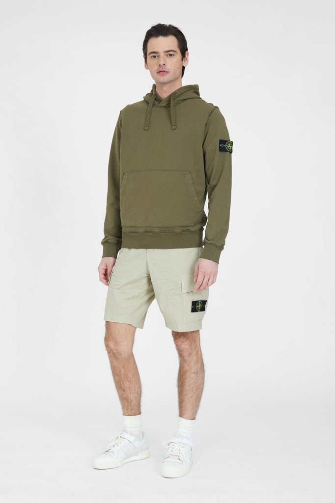 L0803 Stretch Cotton Tea Paracadute Cargo Shorts - Sand