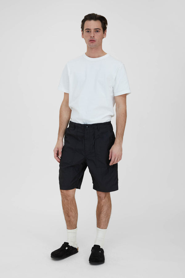 Fatigue Shorts - Black Nylon Micro Ripstop