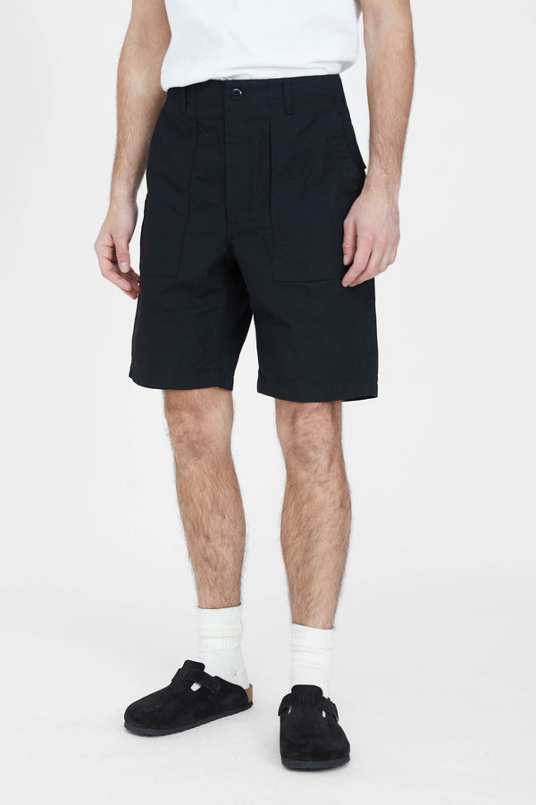 Fatigue Shorts - Black Cotton Ripstop