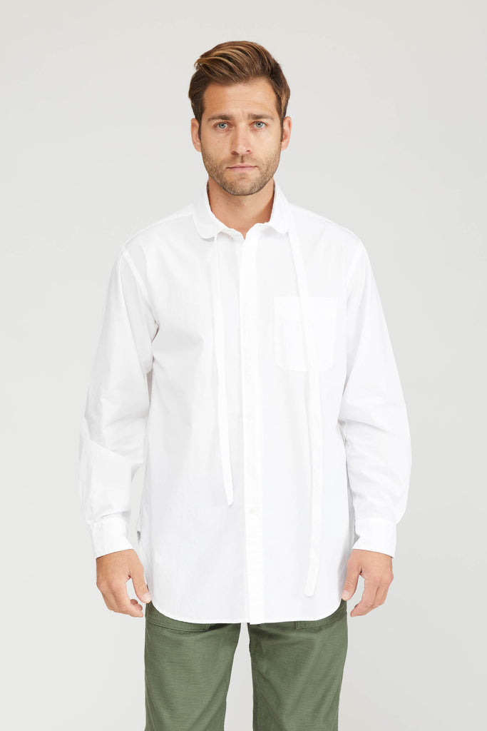 Rounded Collar Shirt 100'S 2Ply Broadcloth - White