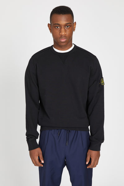 62740 COTTON FLEECE SWEATSHIRT - BLACK