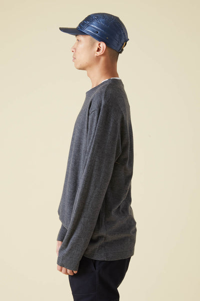WASHABLE MILL WOOL CREW TSHIRT - GRAY