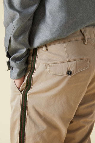 RAG CUT CHINO BAND SW - BEIGE