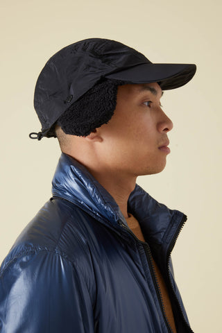 99876 NYLON METAL TERRY LINED CAP - BLACK