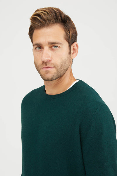 CREW NECK WASHED WOOL - ALLORO