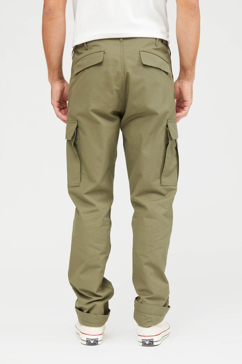 Slim Fit 6 Pocket Ripstop Cargo Pants - Army
