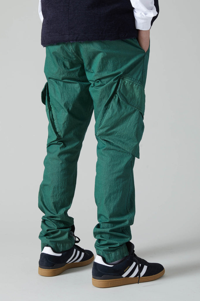 JUNGLE GABARDINE COTTON NYLON TROUSER - VINTAGE GREEN