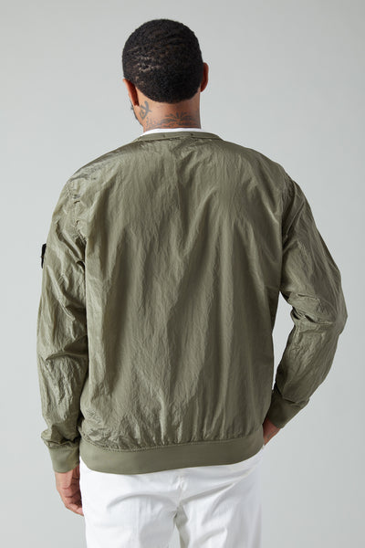 64012 NYLON METAL LINED SMOCK SHIRT - OLIVE
