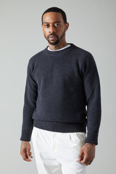 CORBA CRUNA CREWNECK SWEATER - ANTRACITE