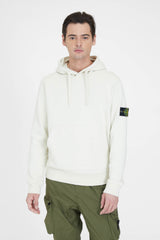 64151 Cotton Fleece Garment Dyed Hooded Sweatshirt - Ivory