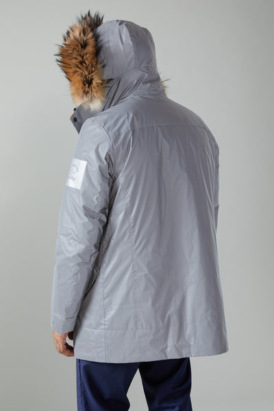REFLEX INSULATED PARKA - REFLECTIVE GREY/ORANGE