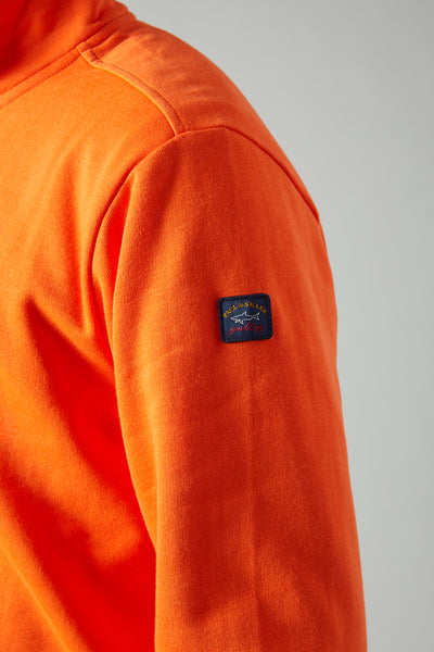 PRANGE 1/4 ZIP SWEATSHIRT - ORANGE
