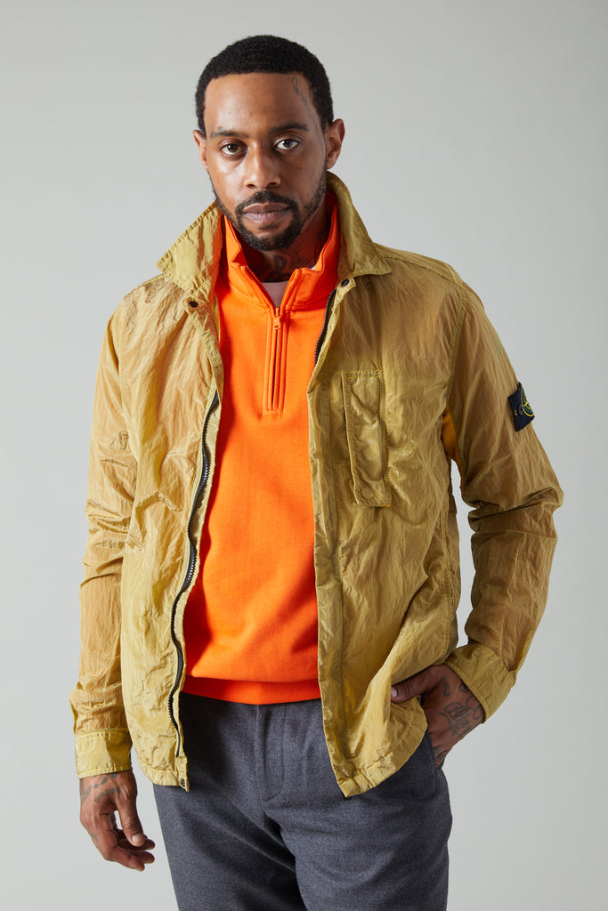 10844 NYLON METAL OVERSHIRT - OCHRE