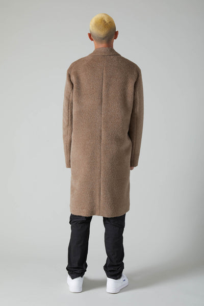 EGG ALPACA COAT - BEIGE
