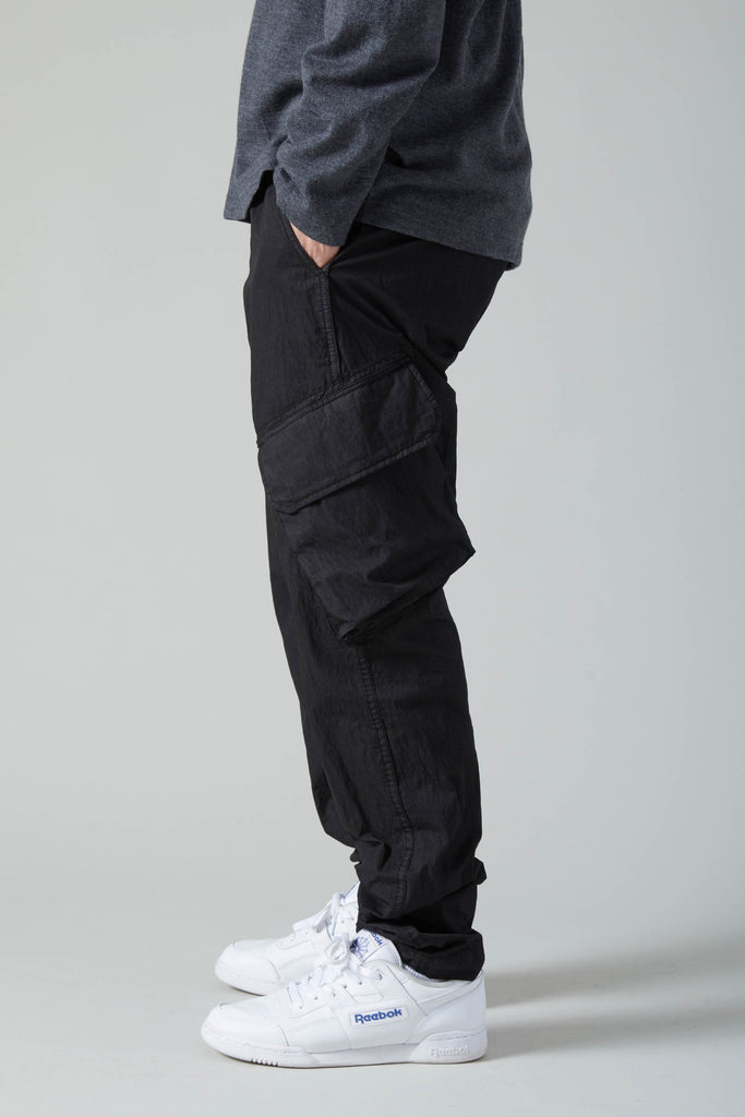 JUNGLE GABARDINE COTTON NYLON TROUSER - BLACK