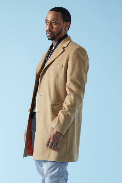LORO PIANA STORM SYSTEM WATERPROOF COAT - CAMEL/ORANGE