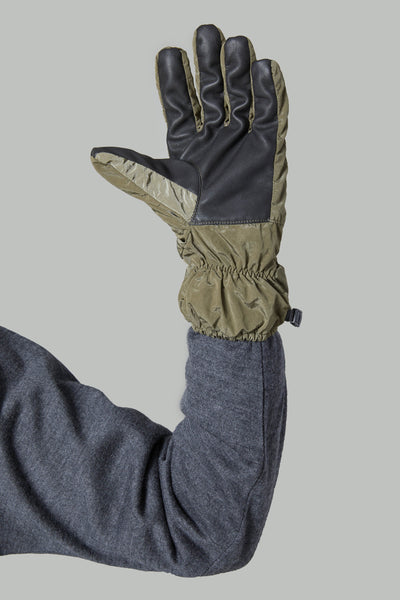 92069 NYLON METAL GLOVES - OLIVE