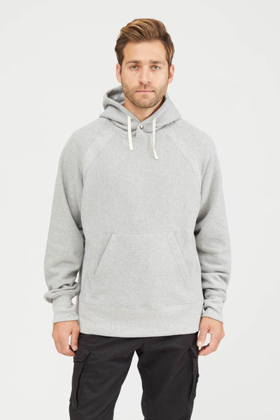 Plain Raglan Hoody Cp Fleece - Heather Grey