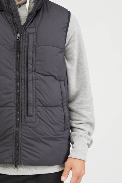 G0123 GARMENT DYED CRINKLE REPS DOWN VEST - CHARCOAL